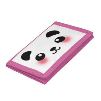 Kawaii Panda Face Tri-fold Wallets
