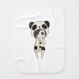 Kawaii Panda Girl Burp Cloth