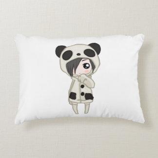 Kawaii Panda Girl Decorative Cushion