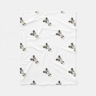 Kawaii Panda Girl Fleece Blanket