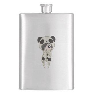 Kawaii Panda Girl Hip Flask