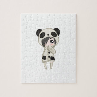 Kawaii Panda Girl Jigsaw Puzzle
