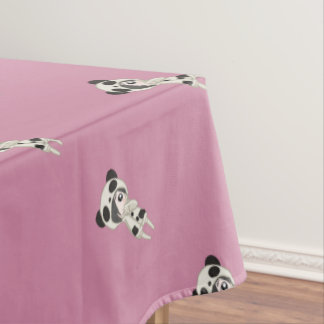 Kawaii Panda Girl Tablecloth