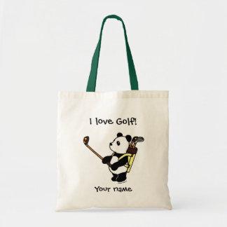 Kawaii Panda Golfer Tote Bag
