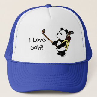 Kawaii Panda Golfer Trucker Hat