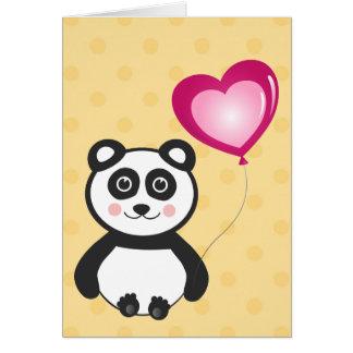 Kawaii Panda Greeting Card