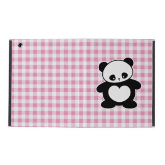 Kawaii panda iPad folio case