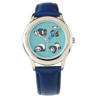 Kawaii Panda Kids Learning Time Watch