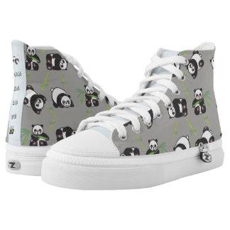 Kawaii Panda Love - HiTop Shoes