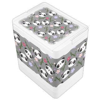 Kawaii Panda on Gray Cooler