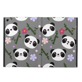 Kawaii Panda on Gray Cover For iPad Air