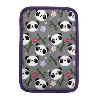 Kawaii Panda on Gray iPad Mini Sleeve