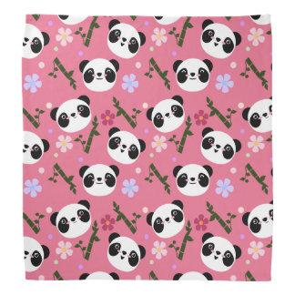 Kawaii Panda on Pink Bandana