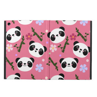 Kawaii Panda on Pink iPad Air Case
