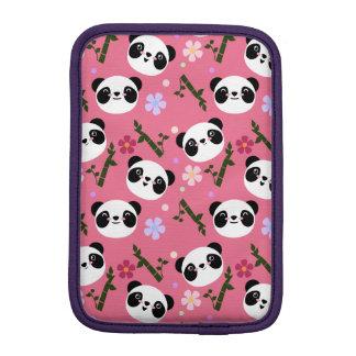 Kawaii Panda on Pink iPad Mini Sleeve