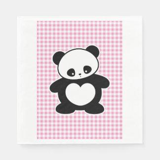 Kawaii panda paper napkin