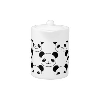 Kawaii Panda Pattern In Black And White