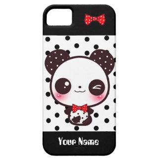 Kawaii Panda - Personalized iPhone 5 Case