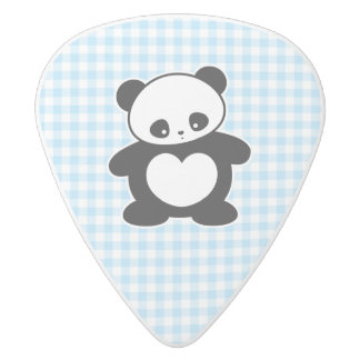 Kawaii panda white delrin guitar pick
