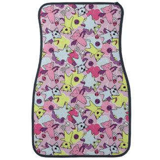 Kawaii pattern of Halloween cats Car Mat