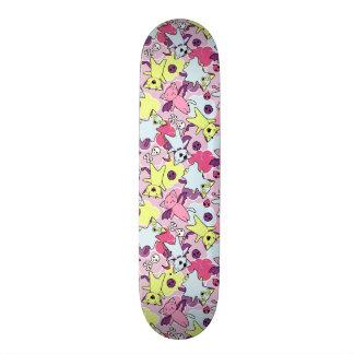 Kawaii pattern of Halloween cats Custom Skate Board