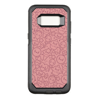 Kawaii pattern with cute cakes OtterBox commuter samsung galaxy s8 case