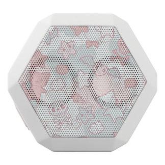 kawaii pattern with doodle white boombot rex bluetooth speaker