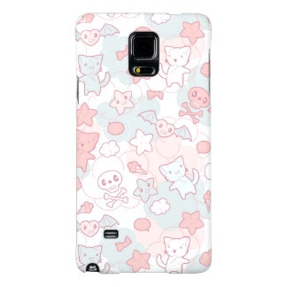 kawaii pattern with doodle galaxy note 4 case