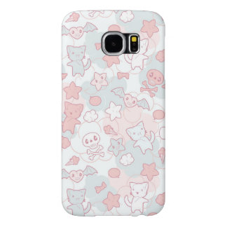 kawaii pattern with doodle samsung galaxy s6 cases