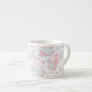 kawaii pattern with doodle espresso mug