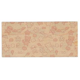 kawaii pattern with doodle wood USB 2.0 flash drive