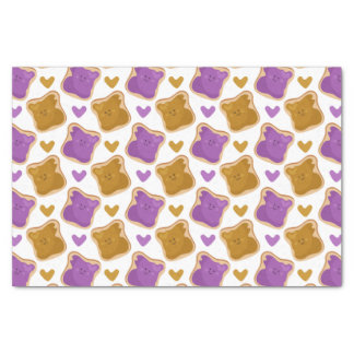 Kawaii PBJ Pattern Tissue Paper