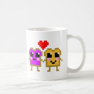 Kawaii Peanut Butter and Jelly Basic White Mug