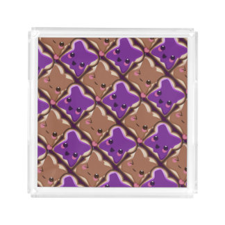 Kawaii Peanut Butter and Jelly Friends Acrylic Tray