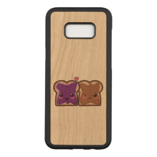 Kawaii Peanut Butter and Jelly Friends Carved Samsung Galaxy S8+ Case