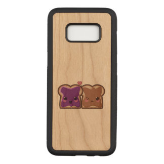Kawaii Peanut Butter and Jelly Friends Carved Samsung Galaxy S8 Case