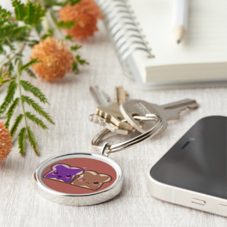 Kawaii Peanut Butter and Jelly Friends Key Ring