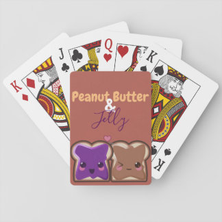 Kawaii Peanut Butter and Jelly Friends Playing Cards