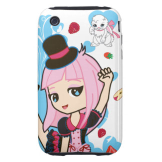 Kawaii Penelope the Gothic Lolita Chibi iPhone 3 Tough iPhone 3 Cases