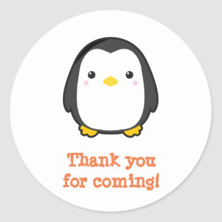 Kawaii Penguin Round Sticker