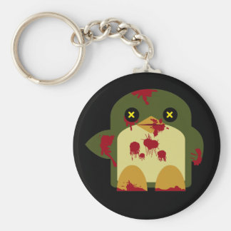 Kawaii Penguin Zombie Gruesome Horror Basic Round Button Key Ring