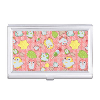 Kawaii Penguins and Wagashi Business Card Holder