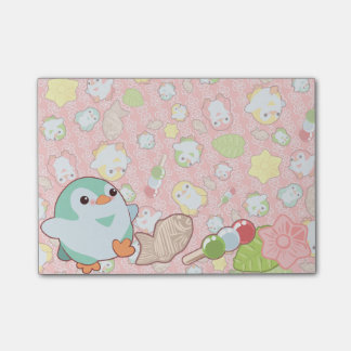Kawaii Penguins and Wagashi Post-it Notes
