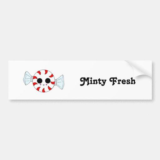 Kawaii Peppermint Bumper Stickers