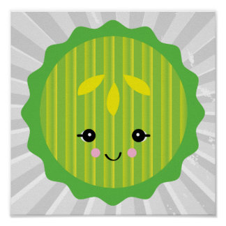 kawaii pickle slice print