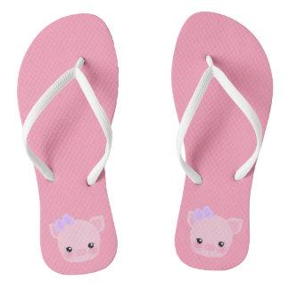 Kawaii Pig Buta-chan Pink Women's Flip Flops