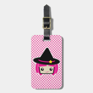 Kawaii Pink Haired Witch Travel Luggage Tags