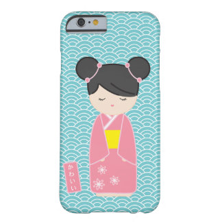 Kawaii Pink Kokeshi Barely There iPhone 6 Case