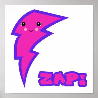 kawaii pink lightning bolt print