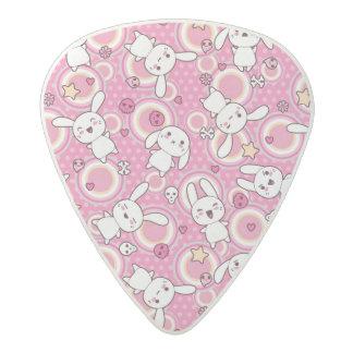 kawaii pink pattern acetal guitar pick